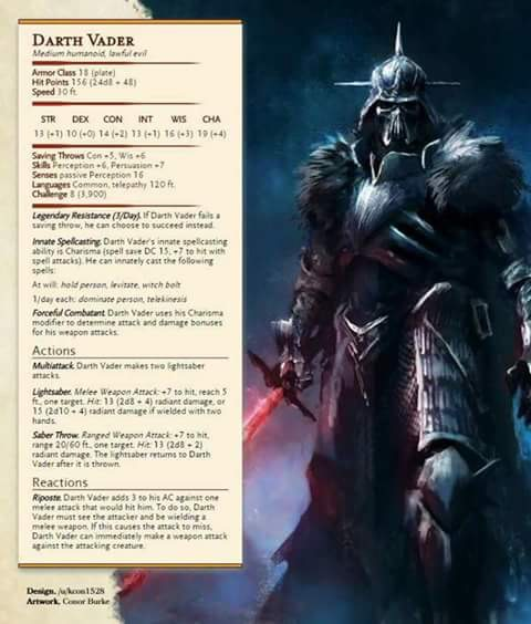 Build Dartha Vadera do D&D